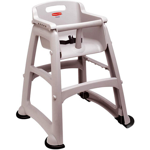 Rubbermaid Sturdy Baby Chair with Feet Platinum