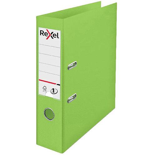 Rexel Choices 75mm Lever Arch File Polypropylene A4 Green 2115505 Pack of 10