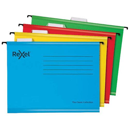 Rexel  Classic Suspension Files Foolscap Blue Pack of 10 2115594