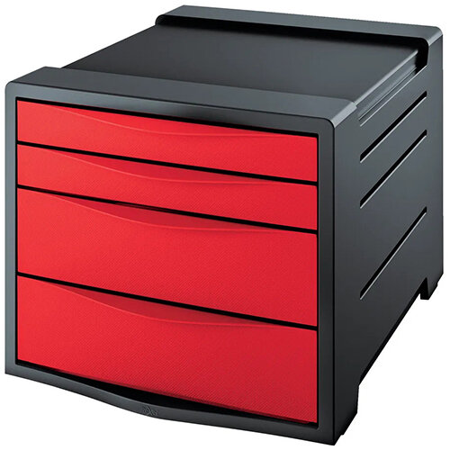 Rexel Choices Drawer Cabinet  Red 2115610