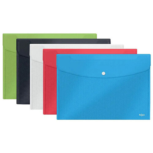 Rexel Choices Popper Wallet A5 Assorted Pack of 5 2115673