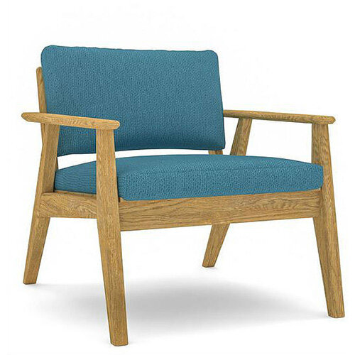 Frovi SCANDI 1 Seater Armchair With Natural Oak Frame H750xW720xD780mm 430mm Seat Height - Fabric Band D