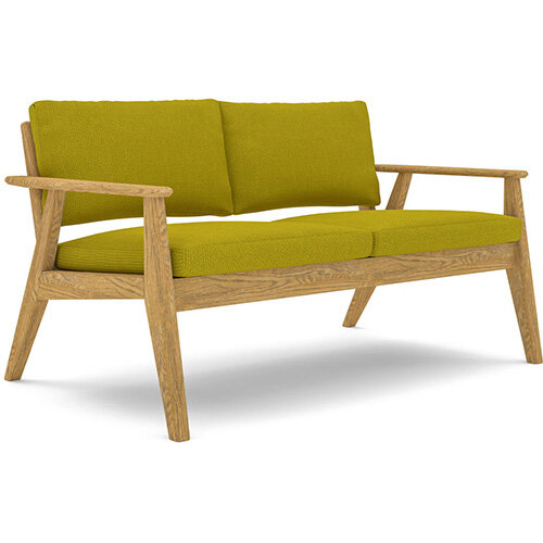 Frovi SCANDI 2 Seater Sofa With Natural Oak Frame H750xW1290xD780mm 430mm Seat Height - Fabric Band B