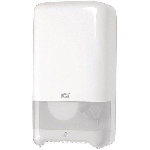 Tork Twin Mid Size Toilet Roll Plastic Dispenser White 557500