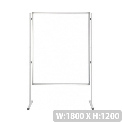 Franken PRO Magnetic Whiteboard H1200 x W1800mm Double Sided Aluminium Frame SCD8105