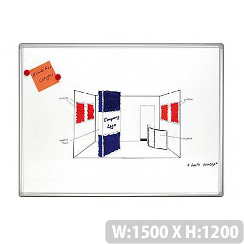 Franken Pro Double Sided Lacquered Steel Whiteboard 1500 x 1200mm