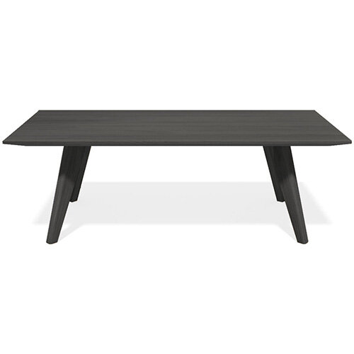 Frovi SCANDI Rectangular Coffee Table With Black Oak Frame W1000xD600xH390mm