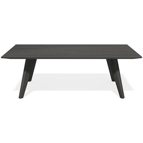 Frovi SCANDI Rectangular Coffee Table With Black Oak Frame W1200xD800xH390mm