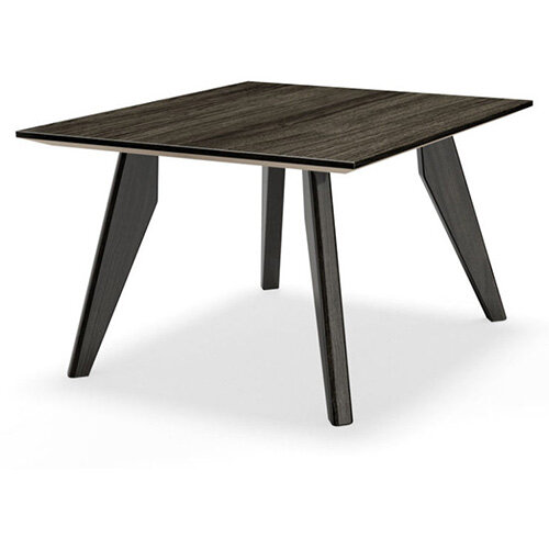 Frovi SCANDI Square Coffee Table With Black Oak Frame W800xD800xH390mm
