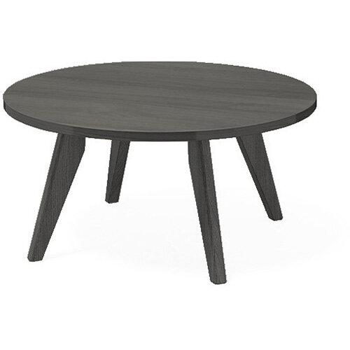 Frovi SCANDI Round Coffee Table With Black Oak Frame Dia800xH390mm