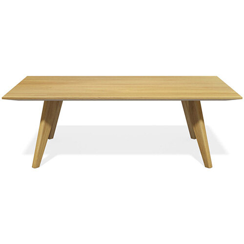 Frovi SCANDI Rectangular Coffee Table With Natural Oak Frame W1200xD800xH390mm