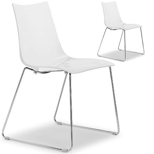 Zebra Antishock Canteen & Breakout Chrome Sled Frame Chair Glossy ...