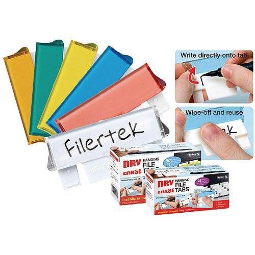 Filertek Fit-All Dry Erase Suspension File Tabs 50 Assorted