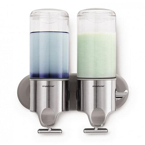 Simplehuman Wall Mountable Stainless Steel Soap Dispenser Pump Twin BT1028