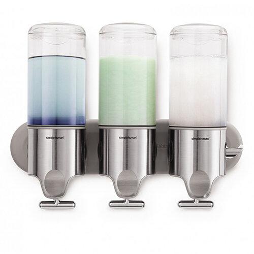 Simplehuman Wall Mountable Stainless Steel Soap Dispenser Pump Triple BT1029
