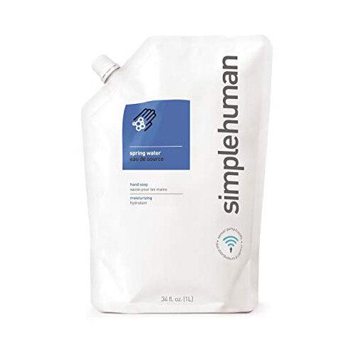 Simplehuman 1 Litre Soap Dispenser Refill Pouch, Moisturising Liquid Soap Spring Water CT1021