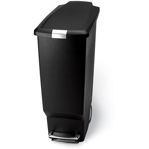 Simplehuman Slim Design Plastic Bin 25L Pedal Operated Black CW1343