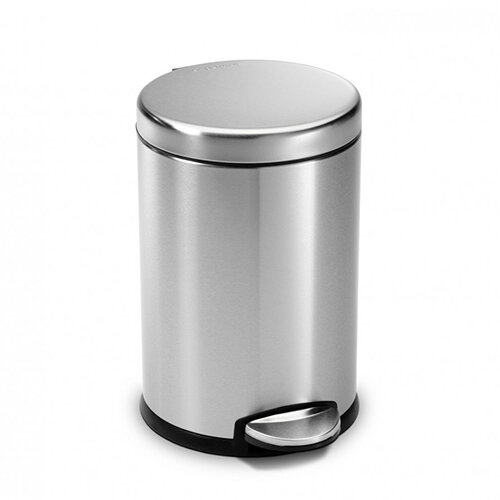 Simplehuman Round Steel Bin 3L Pedal Operated Brushed Stainless Steel CW1854CB