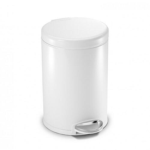 Simplehuman Round Bathroom Bin 3L Pedal Operated White Steel CW1856CB