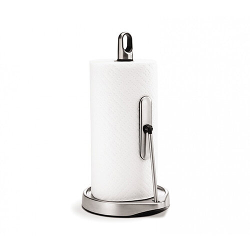 Simplehuman Kitchen Roll Holder Tall Tension Arm, Brushed Steel KT1161