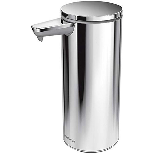 Simplehuman Liquid Sensor Soap Pump Dispenser 266ml Polished Steel - Rechargeable ST1044