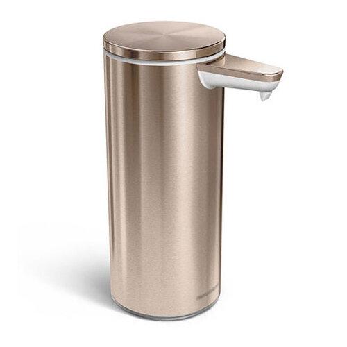 Simplehuman Liquid Sensor Soap Pump Dispenser 266ml Rose Gold Steel - Rechargeable ST1046