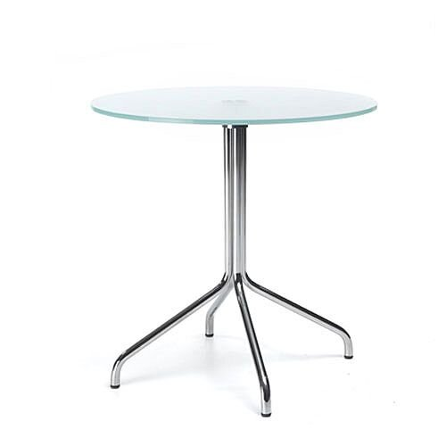 Round Glass Coffee Table D600xH600 4 Star Base
