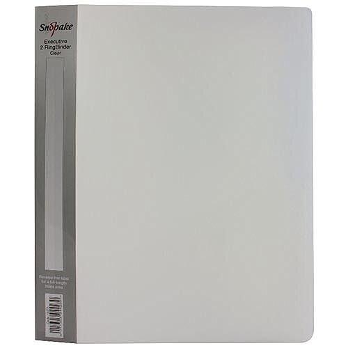 Snopake Polypropylene Executive A4 Ring Binder 25mm Clear 13371