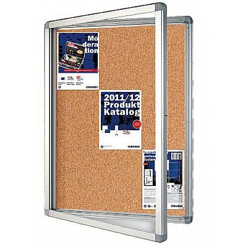 Franken Display Case ECO Outdoor Cork 12 x A4 SK12KE