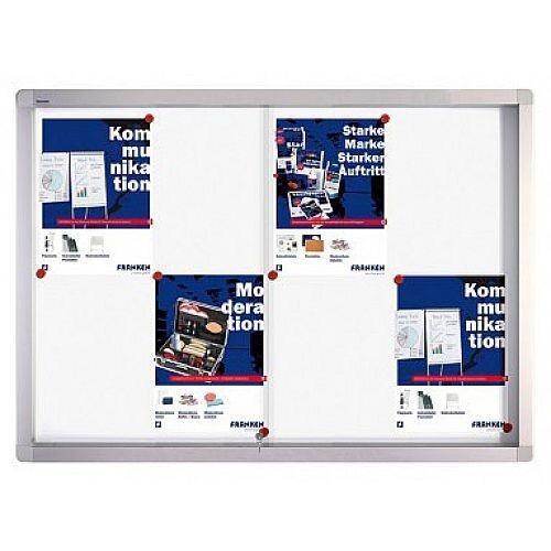 Franken Display Case PRO Magnetic Whiteboard 8 x A4 SK6108