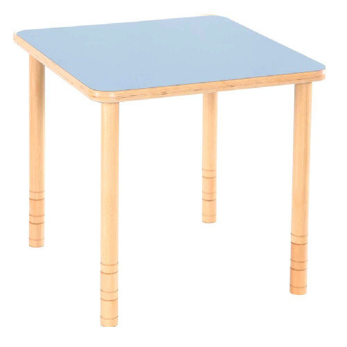 Flexi Square Height Adjustable Table 48-58cm Blue Top