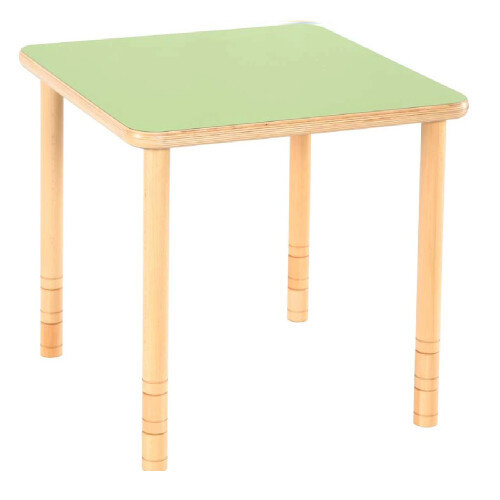 Flexi Square Height Adjustable Table 64-76cm Green Top