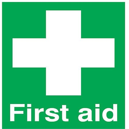 First Aid Safety Sign 100x250mm PVC
