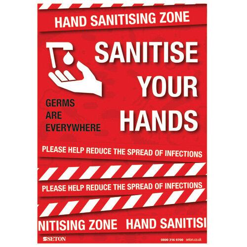 Sanitise Your Hands S/A Vinyl A3 FA064A3SAV