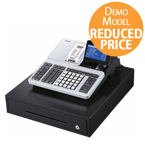 [Demo Model] Casio SR-S500 Cash Register - LCD Screen, SD Card, Bluetooth, 3000 Product Codes, 72 Departments, Colour: Silver