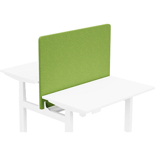Acoustic Screen For Leap Height Adjustable Bench W1200xH850mm - Camira BLAZER LITE Fabric - Colour Code: LTH55-Happy