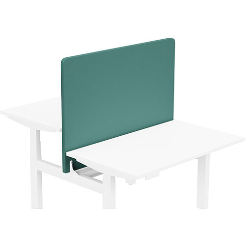 Acoustic Screen For Leap Height Adjustable Bench W1200xH850mm - Camira LUCIA Fabric - Colour Code: YB047-Windjammer