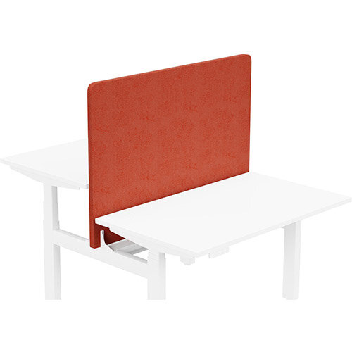 Acoustic Screen For Leap Height Adjustable Bench W1200xH850mm - Camira LUCIA Fabric - Colour Code: YB087-Lobster