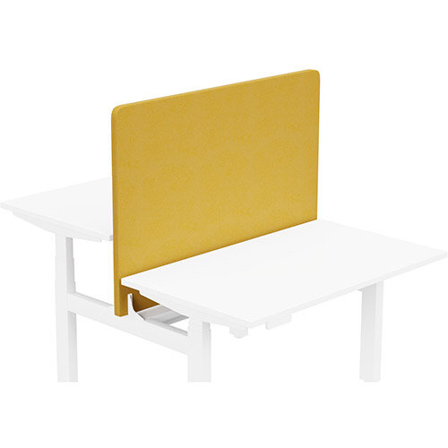Acoustic Screen For Leap Height Adjustable Bench W1200xH850mm - Camira LUCIA Fabric - Colour Code: YB088-Solano