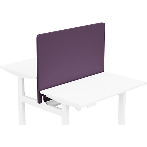 Acoustic Screen For Leap Height Adjustable Bench W1200xH850mm - Camira LUCIA Fabric - Colour Code: YB090-Tarot