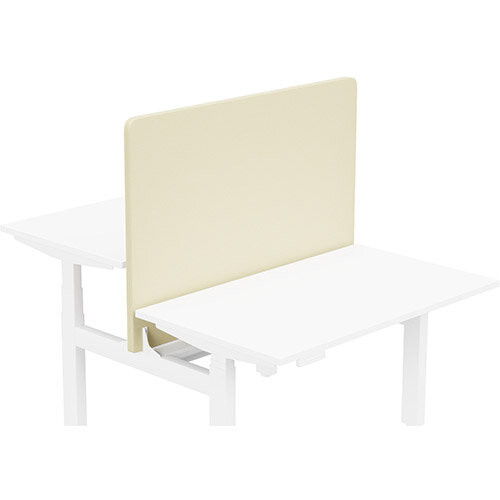 Acoustic Screen For Leap Height Adjustable Bench W1200xH850mm - Camira LUCIA Fabric - Colour Code: YB107-Oyster
