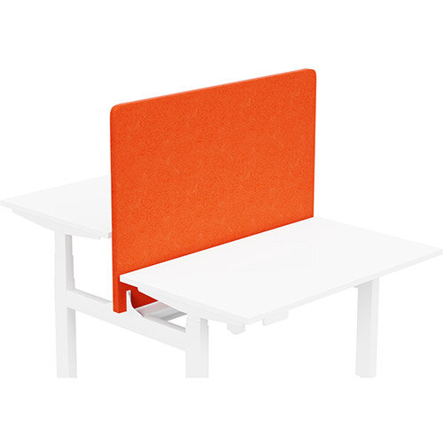 Acoustic Screen For Leap Height Adjustable Bench W1200xH850mm - Camira LUCIA Fabric - Colour Code: YB168-Tortuga
