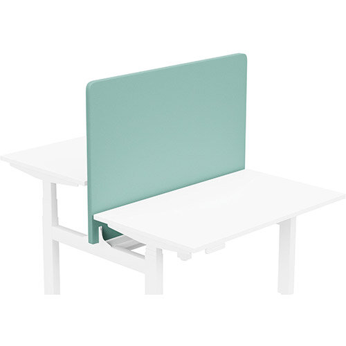 Acoustic Screen For Leap Height Adjustable Bench W1200xH850mm - Camira LUCIA Fabric - Colour Code: YB301-Campeche