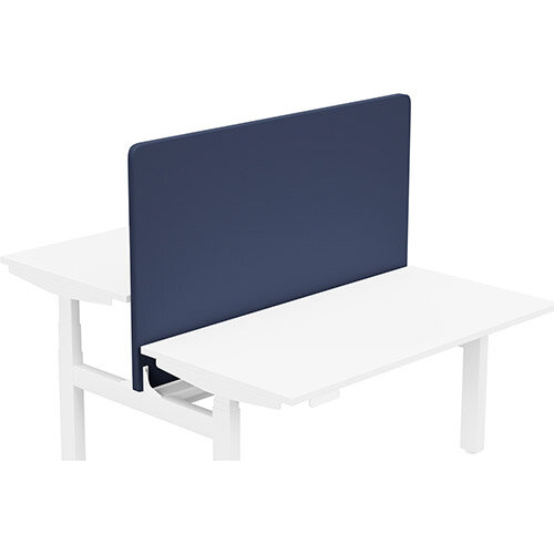 Acoustic Screen For Leap Height Adjustable Bench W1400xH850mm - Camira CARA Fabric - Colour Code: EJ011-Walten