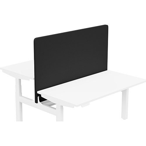 Acoustic Screen For Leap Height Adjustable Bench W1400xH850mm - Camira CARA Fabric - Colour Code: EJ0138-Black