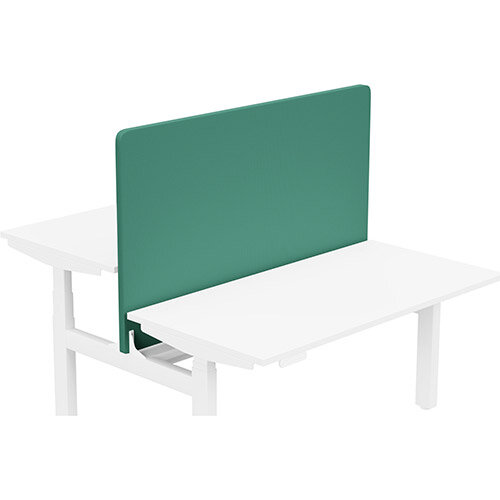 Acoustic Screen For Leap Height Adjustable Bench W1400xH850mm - Camira CARA Fabric - Colour Code: EJ015-Carron