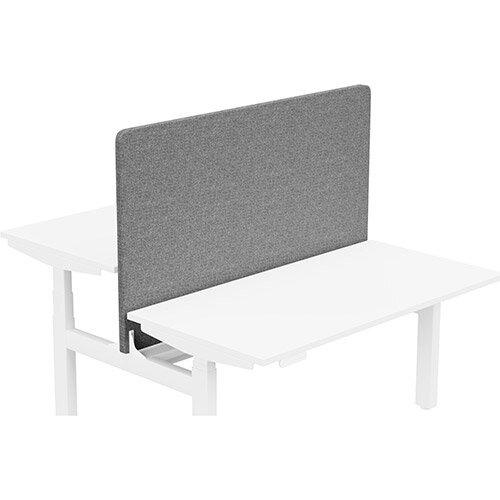 Acoustic Screen For Leap Height Adjustable Bench W1400xH850mm - Camira CARA Fabric - Colour Code: EJ104-Lead