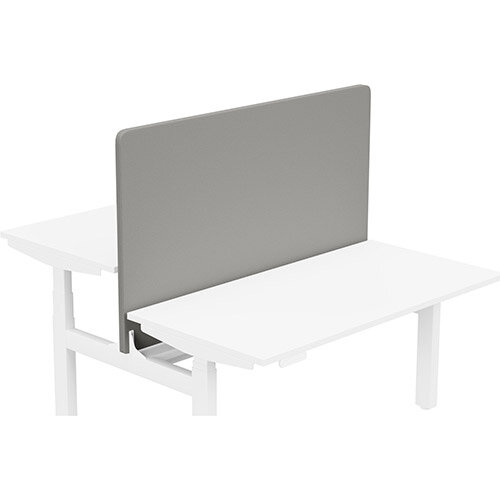 Acoustic Screen For Leap Height Adjustable Bench W1400xH850mm - Camira LUCIA Fabric - Colour Code: YB038-Tequila