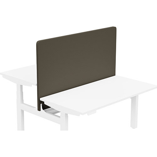 Acoustic Screen For Leap Height Adjustable Bench W1400xH850mm - Camira LUCIA Fabric - Colour Code: YB046-Sombrero