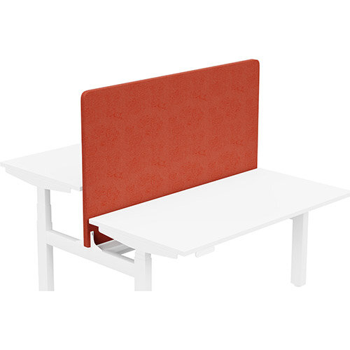 Acoustic Screen For Leap Height Adjustable Bench W1400xH850mm - Camira LUCIA Fabric - Colour Code: YB087-Lobster